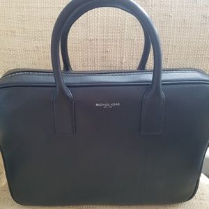 "Mens ""Michael Kors"" Leather Briefcase"